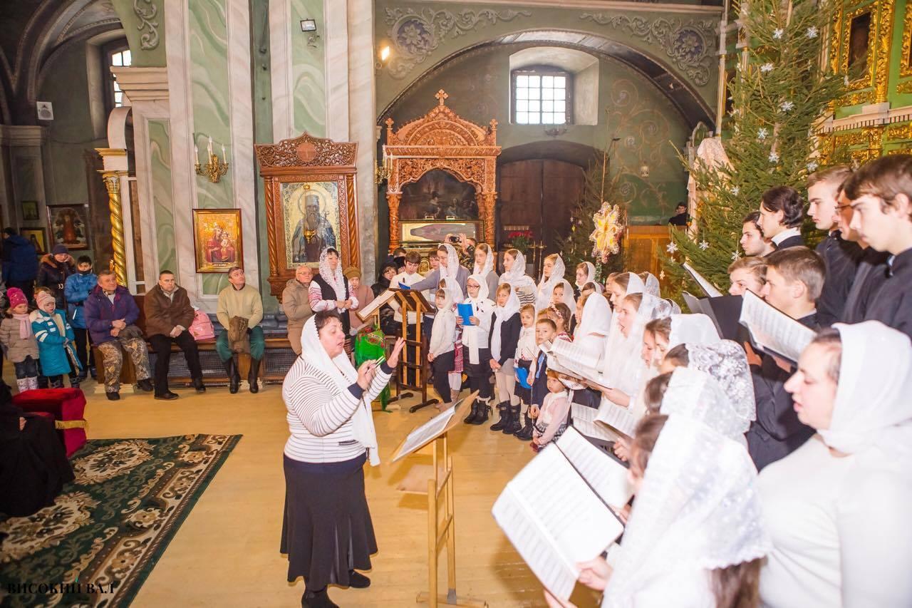 У Свято-Троїцькому соборі лунали різдвяні пісні й колядки. ФОТО