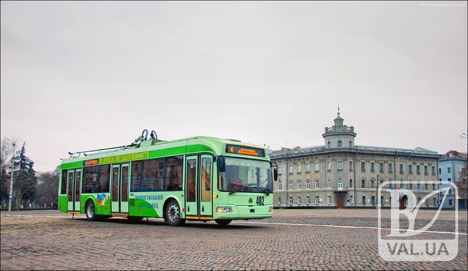 У Чернігові побільшає нових тролейбусів