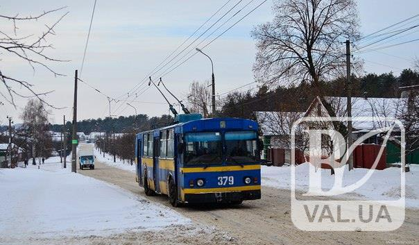 Чернігівське тролейбусне управління оновило схему маршрутів