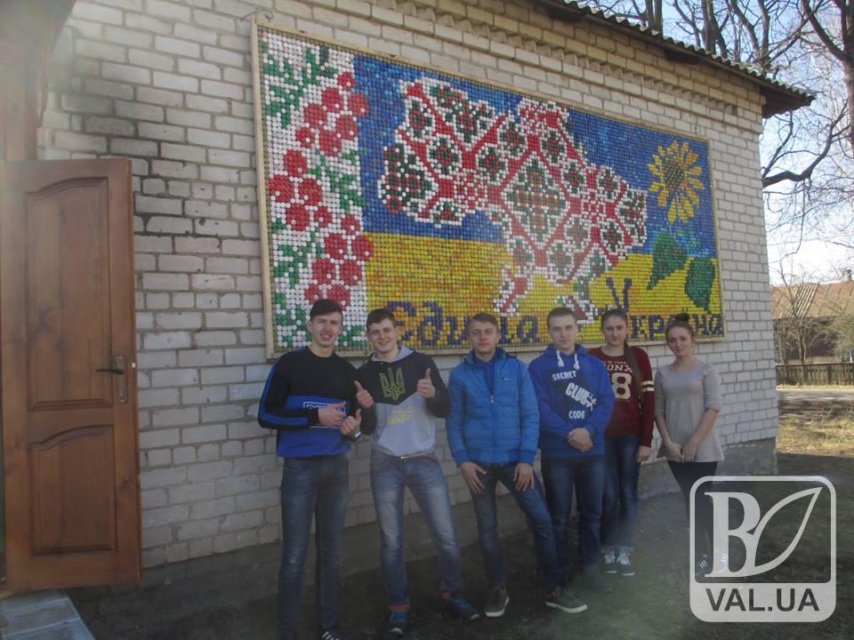 Холминська 5-метрова карта України з кришечок готова до фіксації рекорду України