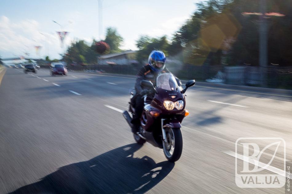 У 25-річного чернігівця, який намагався втекти від поліції, вилучили мотоцикл