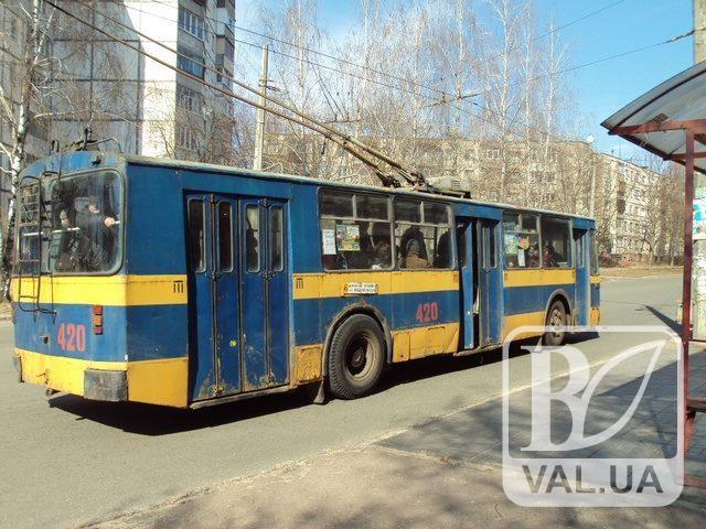 Черніговом знову курсуватиме 5 тролейбус