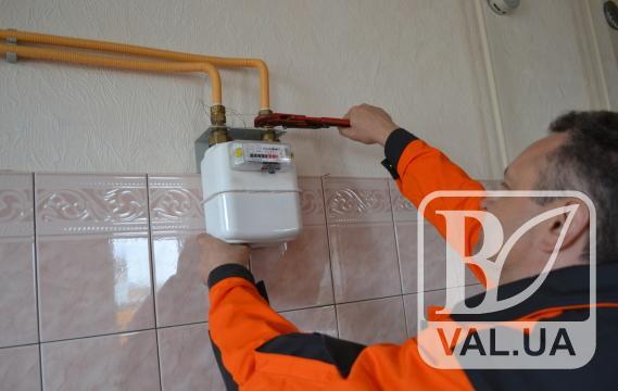 На Чернігівщині встановлено майже 630 будинкових лічильників газу