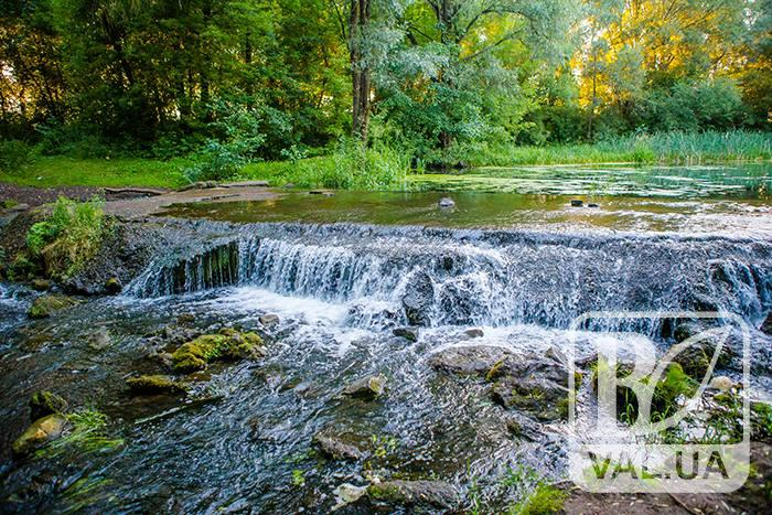Чернігівський водоспад влітку. ФОТОрепортаж
