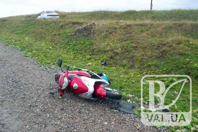 На Чернігівщині п'яний водій скутера збив трьох дітей