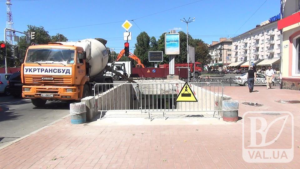 Чи витримає плитка в підземному переході біля готелю «Україна» перші морози? ВІДЕО