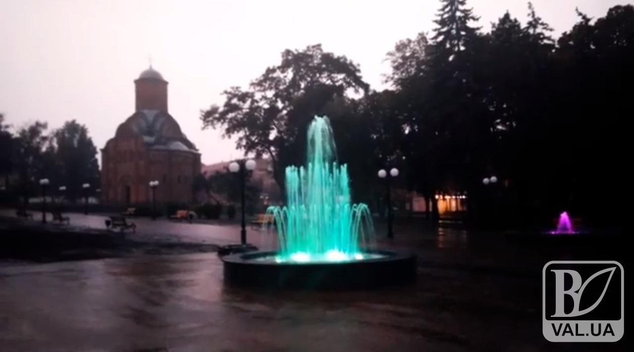 У Чернігові запрацювали нові фонтани. ВІДЕО