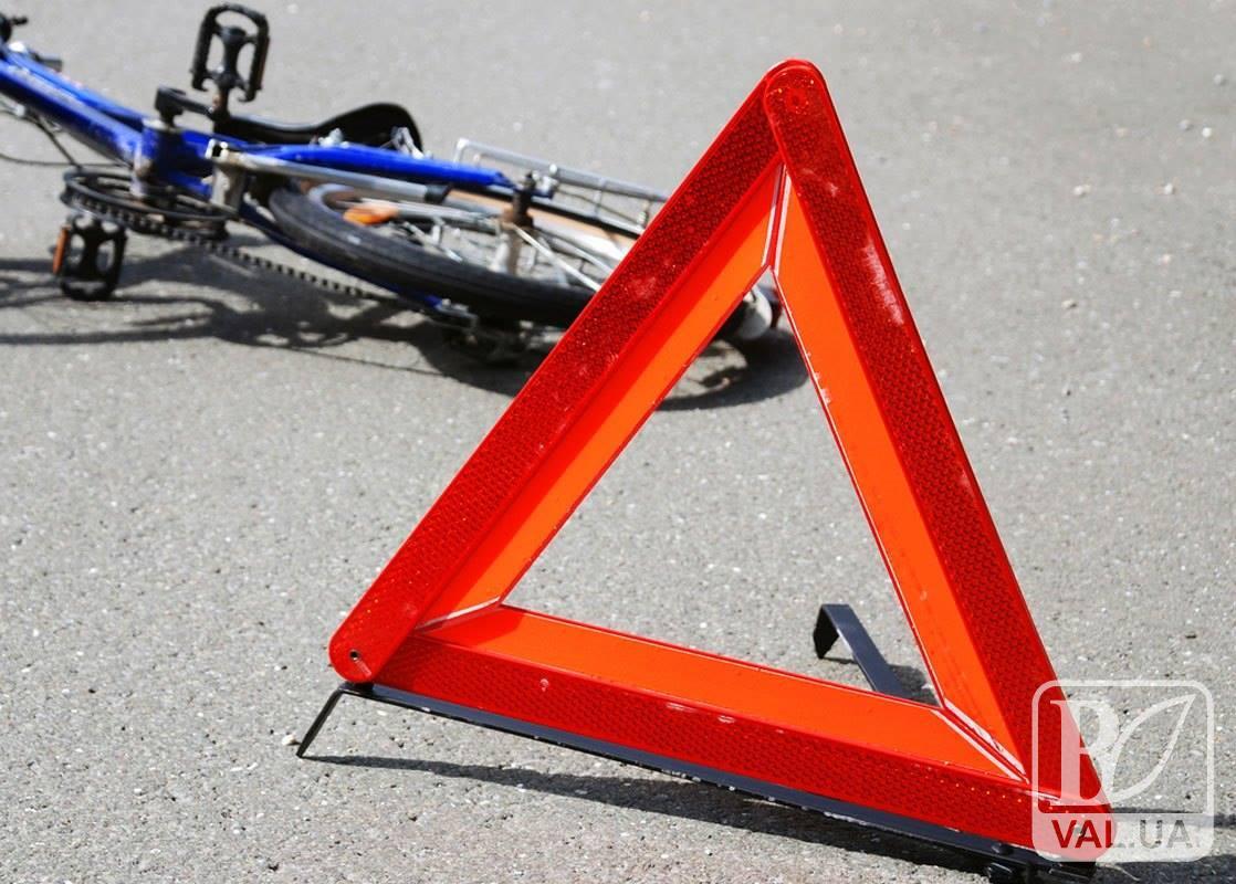 На Чернігівщині п`яний велосипедист «підрізав» авто та потрапив до лікарні