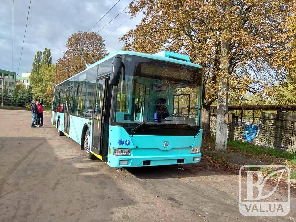 Черніговом курсуватиме «свіженький» тролейбус