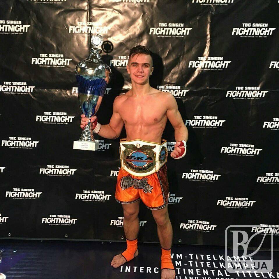 Чернігівський спортсмен став чемпіоном Європи з кікбоксингу