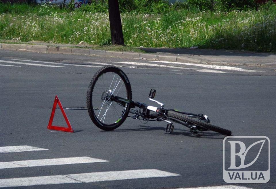 На Чернігівщині п'яний велосипедист потрапив під колеса авто