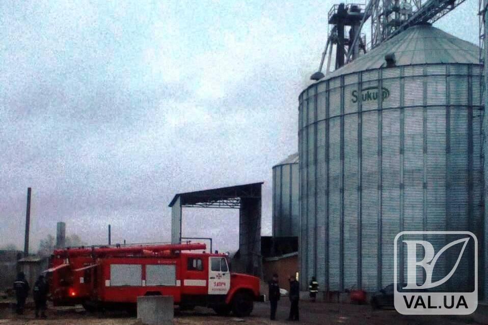 В Сновском районе горела зерносушильная установка. ФОТО