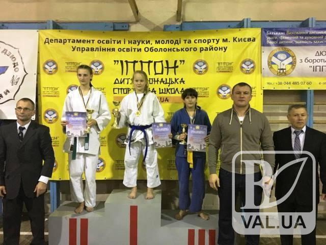 Юна чернігівська дзюдоїстка на Всеукраїнському турнірі виборола «бронзу»
