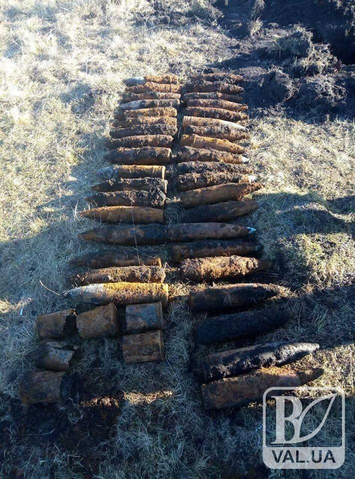 На Чернігівщині знайшли арсенал снарядів Другої світової війни