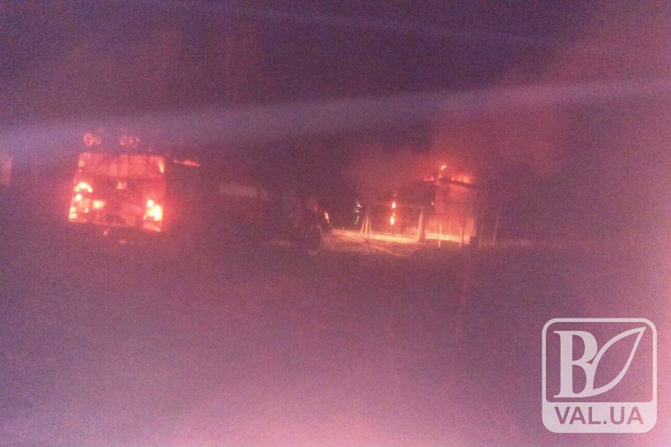 У Киїнці невідомі підпалили два дачні будинки