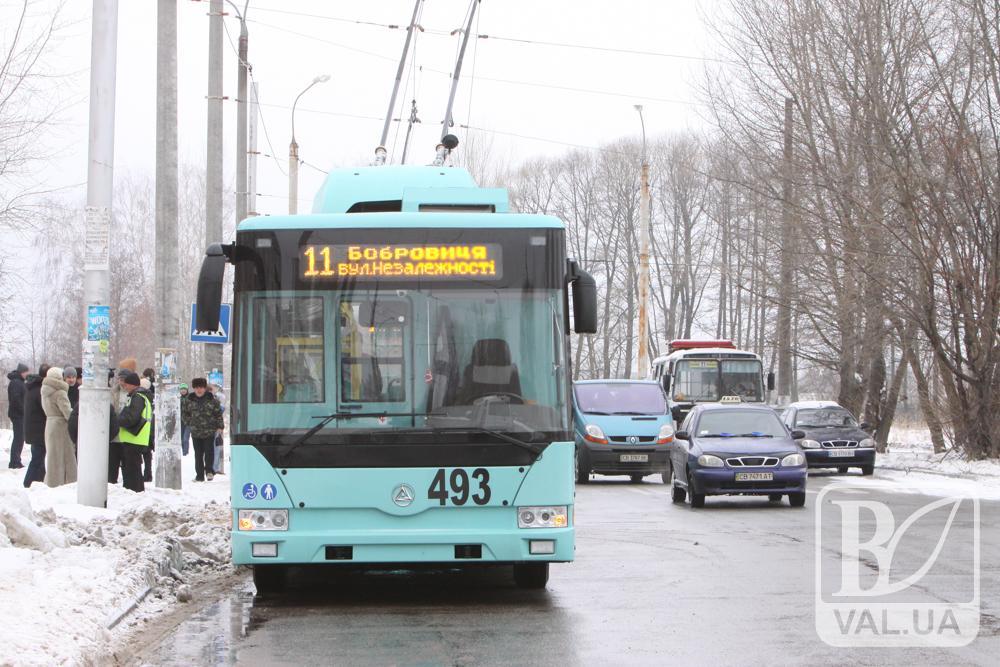 Водіїв чернігівських тролейбусів не влаштовує їх заробітня плата у розмірі 10-ти тисяч гривень