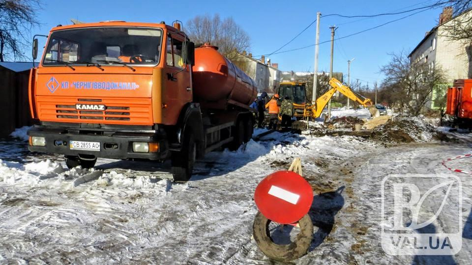 На Мазепи аварія на водопроводі. Без води залишились жителі двох будинків
