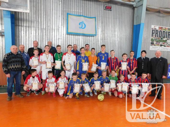 У Чернігові поліція організувала футбольні змагання для дітей