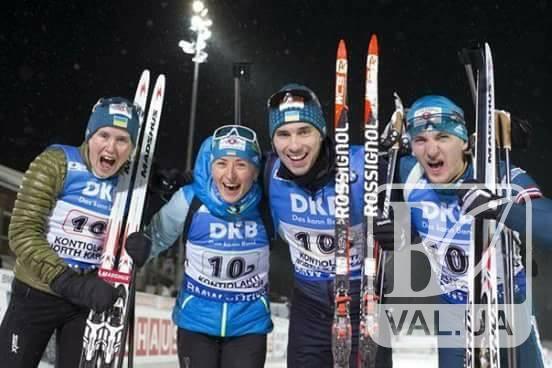 Українська збірна отримала срібло на Кубку світу з біатлону