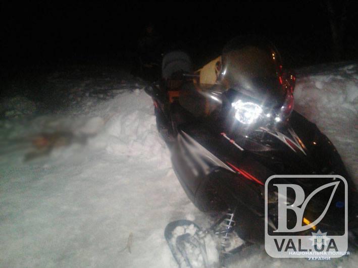 У Козелецькому районі браконьєри на снігоході вполювали косулю