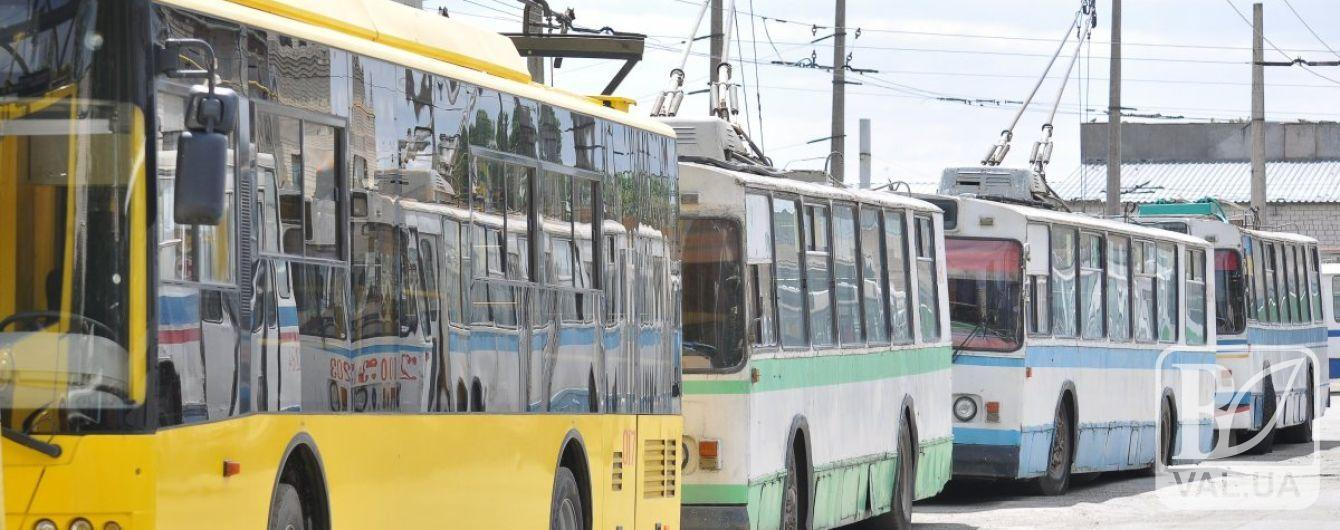 У Чернігові тролейбуси і автобуси підлаштують під розклад руху потягів