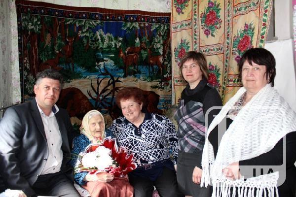 Жительку Ріпкинського району привітали із 100-річним ювілеєм. ФОТО