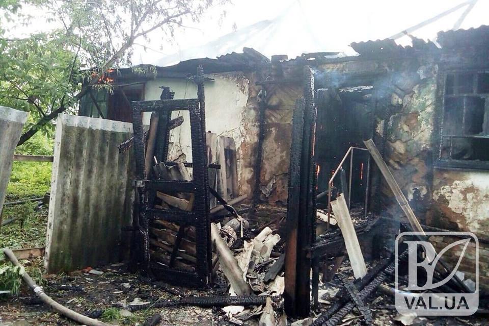 У Бахмацькому районі діти спалили будинок. ФОТО