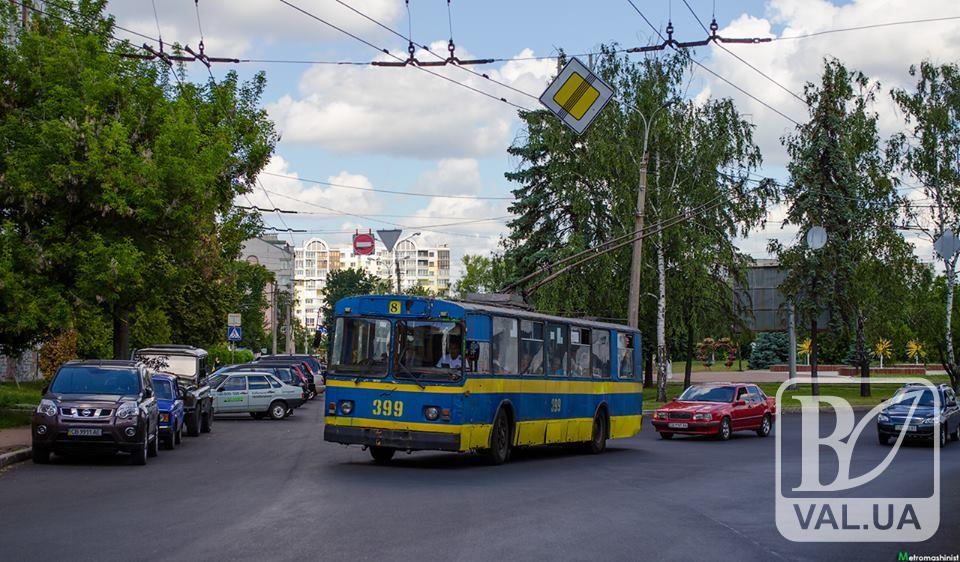 Відьсогодні містом курсуватиме тролейбус №8к