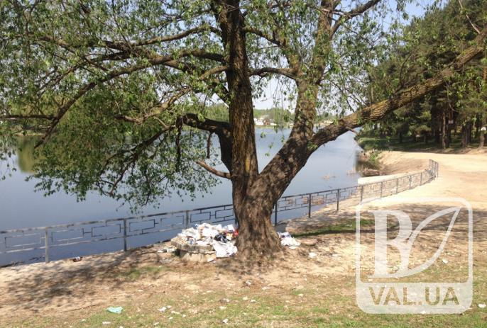Чернігівці просять встановити на виходах з парку «Ялівщина» баки для сміття