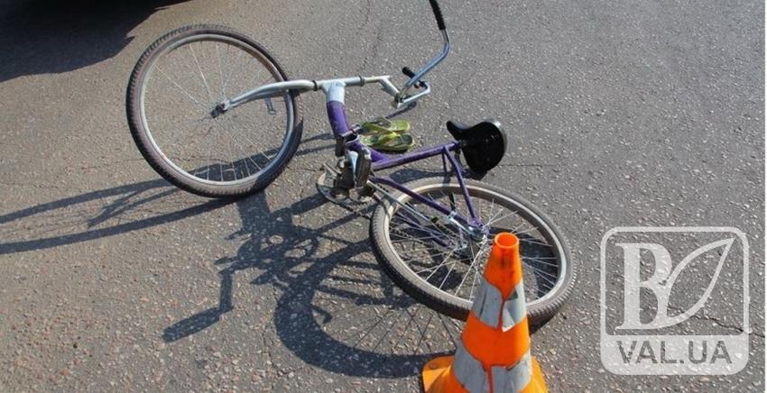 Велосипедист у Сновську наклав у штани після зіткнення з автомобілем