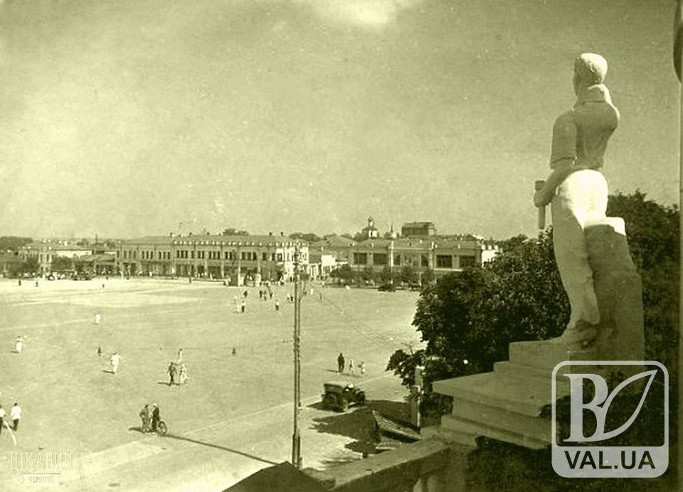 Чернігів, що не зберігся: Красна площа, початок 1940-х...