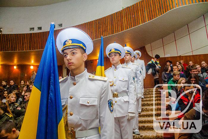 У Чернігові військових вітали з Днем Захисника України. ФОТОрепортаж