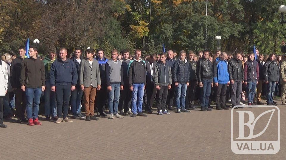 Сорок новобранців з Чернігівщини поповнили лави ЗСУ. ВІДЕО