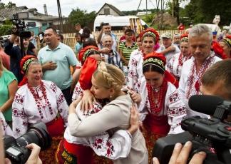 Юлія Тимошенко в селі Андріївка на Чернігівщині