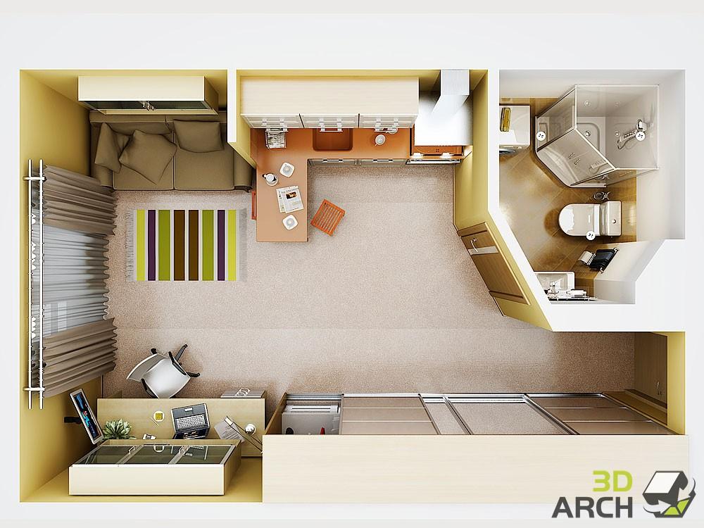 Студия 20 метров дизайн