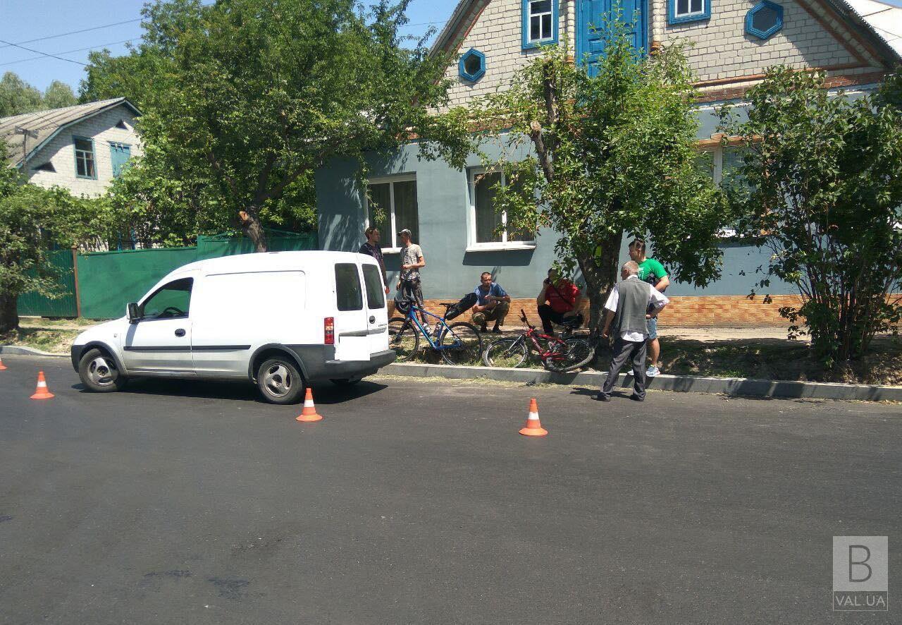 На Пухова велосипедистка потрапила під колеса автівки