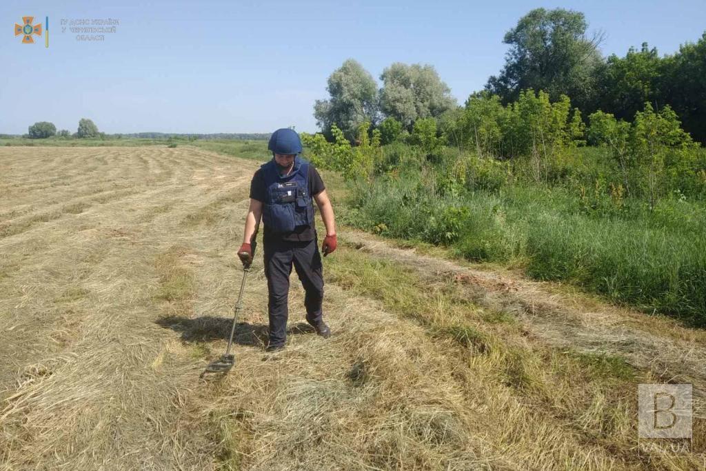 На Чернігівщині піротехніки ДСНС знищили 66 боєприпасів часів Другої світової. ФОТО