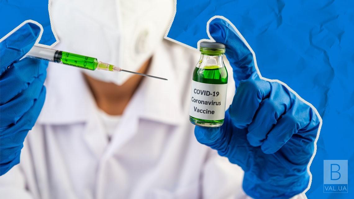 У Чернігівській області за минулу добу вакцинували 168 людей