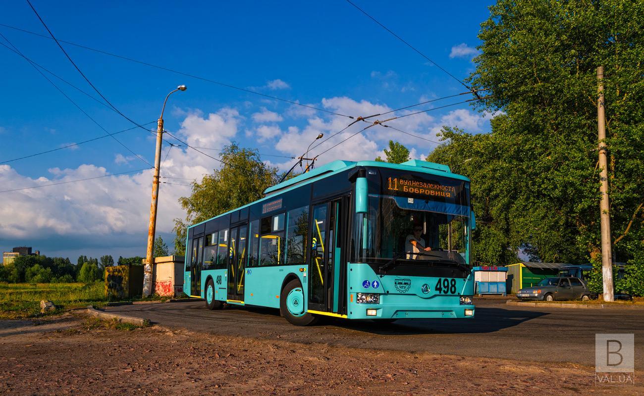У Чернігові через різке гальмування тролейбусу травмувалася пасажирка