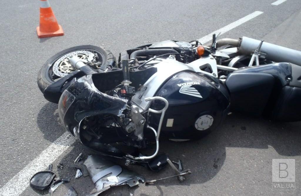 У ДТП на Чернігівщині постраждав мотоцикліст