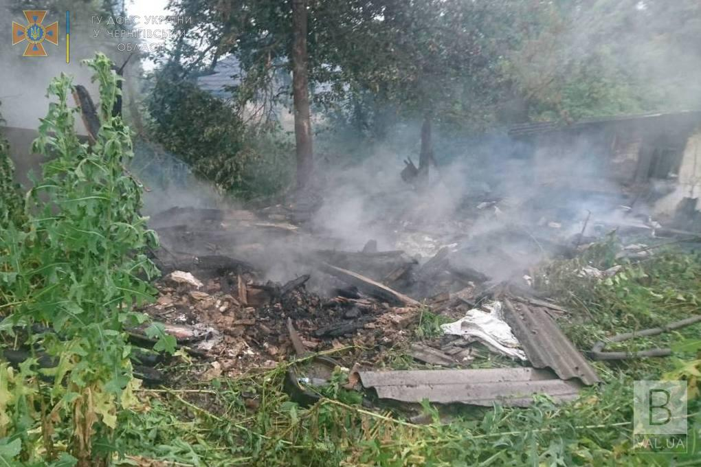 На Чернігівщині блискавка знищила сарай