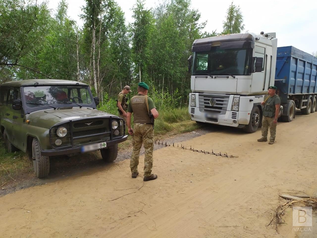 На Чернігівщині прикордонники викрили «чорних» заготівельників піску