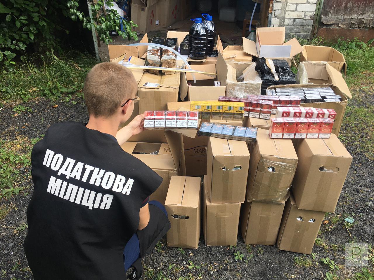 На Чернігівщині перекрили канал контрабанди білоруських сигарет. ФОТО