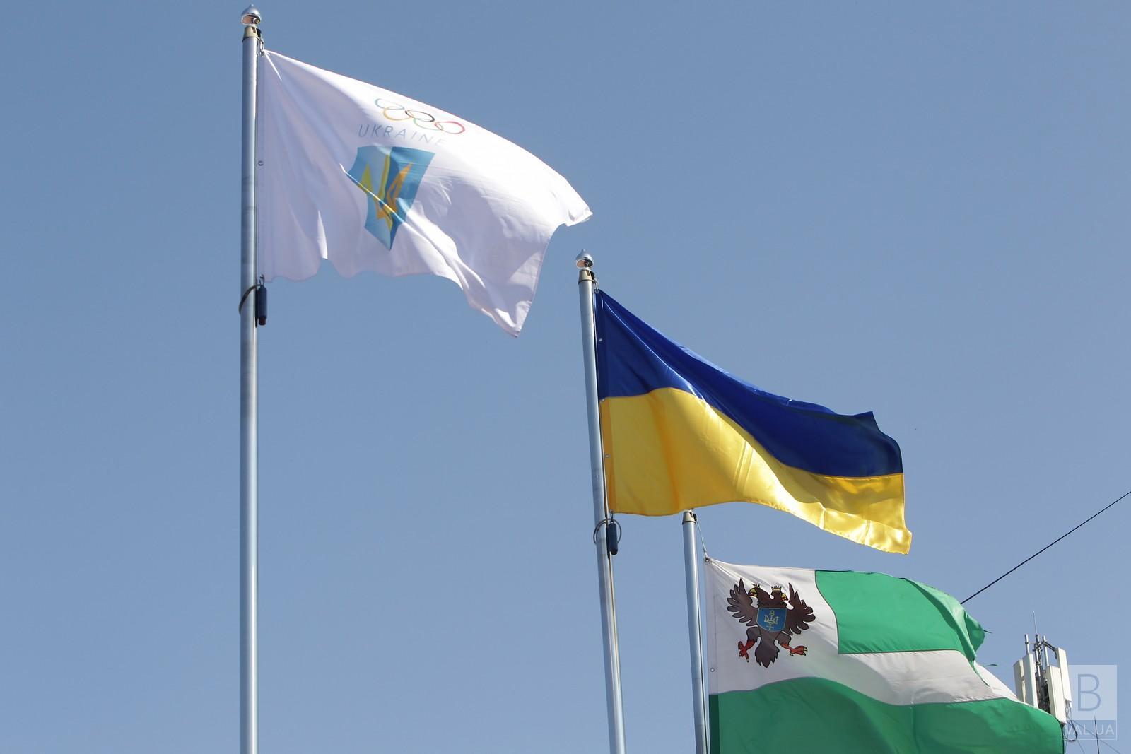 Прапор НОК майорітиме на Красній площі Чернігова до завершення Олімпіади у Токіо