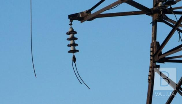 68 населених пунктів на Чернігівщині залишились без електропостачання через негоду