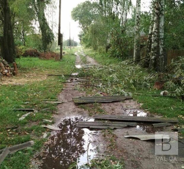 На Чернігівщині села, що постраждали від буревію, отримали допомогу з регіонального резерву