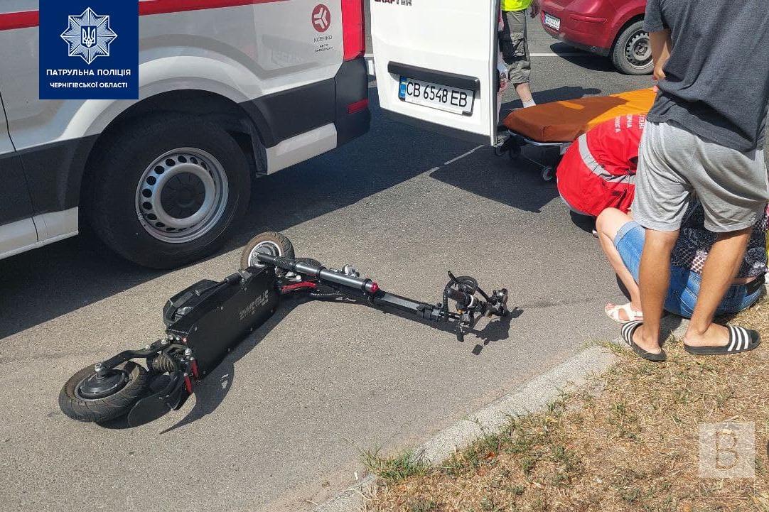 Патрульні розшукали водія автівки, який, можливо, збив самокатчика на 1 Травня. ФОТО