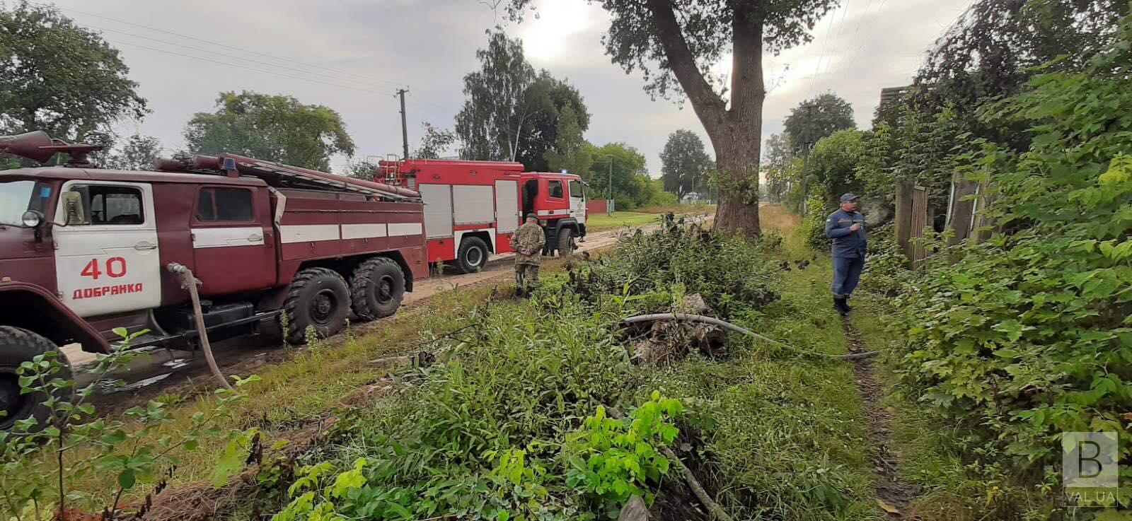 На Чернігівщині у пожежах загинули двоє чоловіків. ФОТО