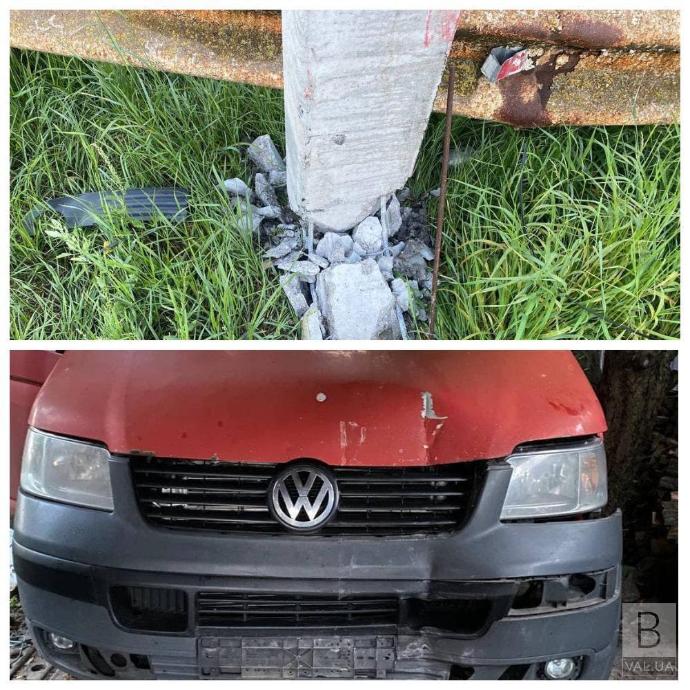Пошкодив стовп і зник з місця ДТП: у Чернігові патрульні знайшли водія з ознаками алкогольного сп'яніння