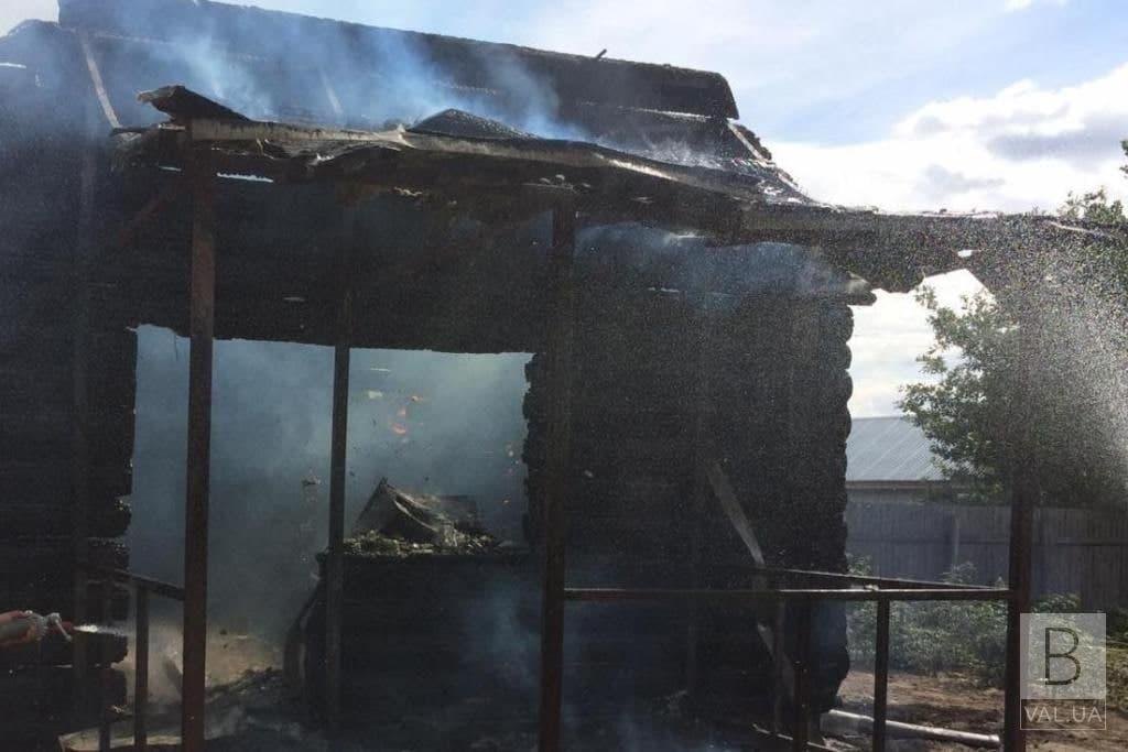 На Чернігівщині згоріла лазня. ФОТО